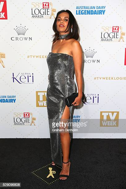 Miranda Tapsell arrives at the 58th Annual Logie Awards at Crown Palladium on May 8 2016 in Melbourne Australia