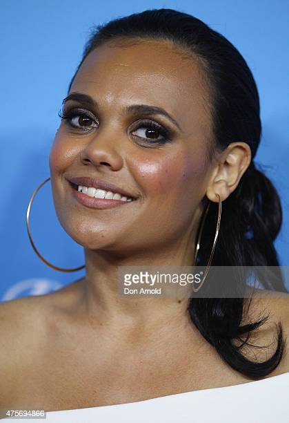Miranda Tapsell arrives at the Sydney Film Festival Opening Night Gala at the State Theatre on June 3 2015 in Sydney Australia