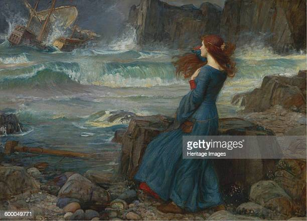 Miranda The Tempest 1916 Private Collection Artist Waterhouse John William