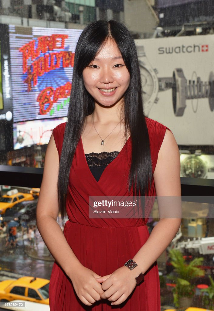 Miranda Xu, Director of Operations, Nederlander Worldwide Entertainment attends the announcement of a new spectacular entertainment and travel destination in China located in Xi'An on site of the legendary Terra Cotta Warriors & Horses, at Minskoff Theatre on August 28, 2013 in New York City.