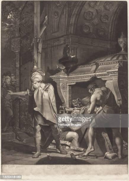Miravan Opening the Tomb of His Ancestors, 1772. Artist Valentine Green.