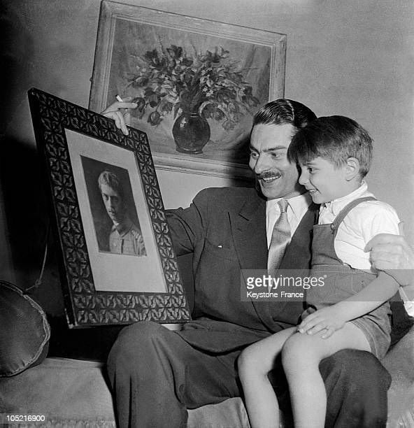 Mircea Gregory Lambrino A Bookbinder Of Parisian Artbooks And First Son Of The Deposed King Carol Ii Of Romania Shows His Son Paul Philip Lambrino A...