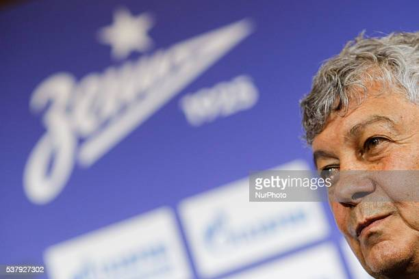 Mircea Lucescu speaks during his first press conference as head coach of FC Zenit St Petersburg on June 3 2016 in Saint Petersburg