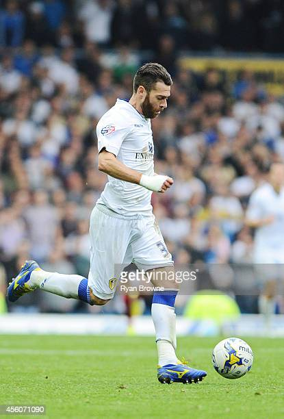 Mirco Antenucci of Leeds during Sky Bet Championship match between Leeds United and Huddersfield Town at Elland Road Stadium on September 20 2014 in...
