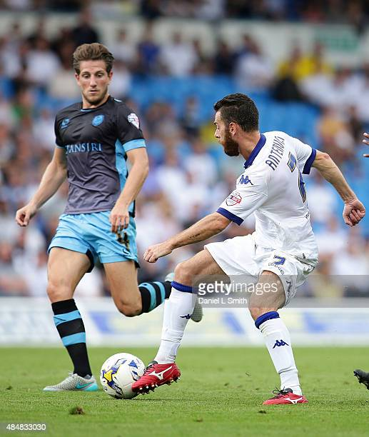 Mirco Antenucci of Leeds United FC passes the ball during the Sky Bet Championship match between Leeds United and Sheffield Wednesday at Elland Road...