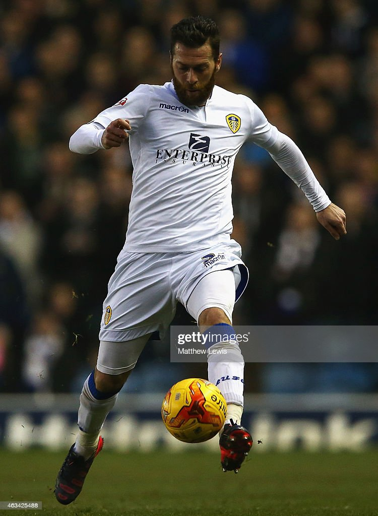 Mirco Antenucci of Leeds United in action during the Sky Bet Championship match between Leeds United and Millwall at Elland Road on February 14, 2015 in Leeds, England.