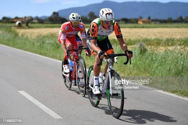 Mirco Maestri of Italy and Team Bardiani CSF / Marco Frapporti of Italy and Team Androni Giocattoli - Sidermec / Damiano Cima of Italy and Team Nippo...