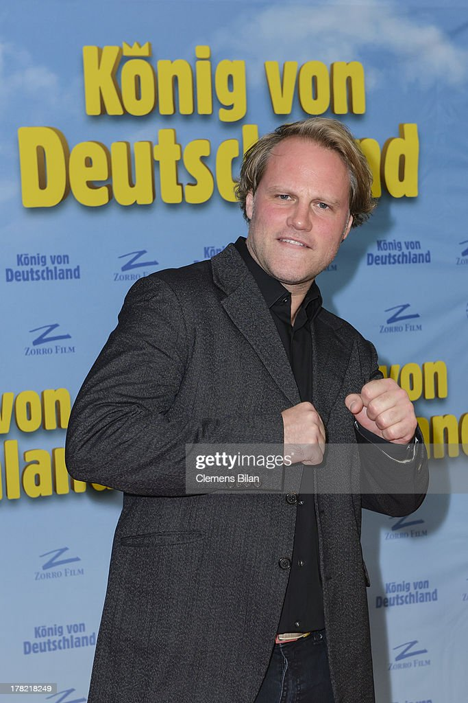 Mirco Reseg attends the 'Koenig von Deutschland' Berlin premiere at Kino International on August 27, 2013 in Berlin, Germany.