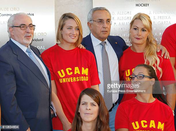 Mireia Belmonte Alejandro Blanco Lydia Valentin Teresa Perales and Ruth Beitia attend the homage from Spanish Olympic Committee to Spanish Olympic...