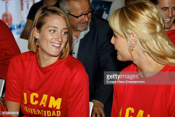 Mireia Belmonte and Lydia Valentin attend the homage from Spanish Olympic Committee to Spanish Olympic medalists in Rio 2016 on September 27 2016 in...