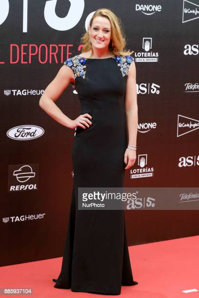 Mireia Belmonte attend the a dinner to commemorate the 50th anniversary of the sports newspaper 'As' and the As Sports Award ceremony at the Cibeles...