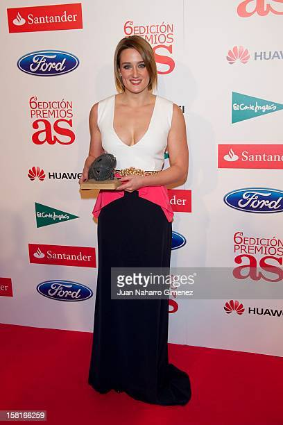 Mireia Belmonte attends As del Deporte awards 2012 at Palace Hotel on December 10 2012 in Madrid Spain