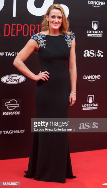 Mireia Belmonte attends the 'As del Deporte' and 'As' sports newspaper 50th anniversary dinner at the Palacio de Cibeles on December 4 2017 in Madrid...