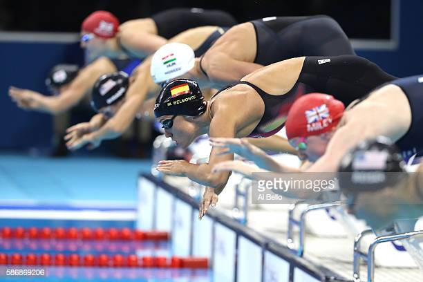 Mireia Belmonte Garcia of Spain competes in the Final of the Women's 400m Individual Medley on Day 1 of the Rio 2016 Olympic Games at the Olympic...