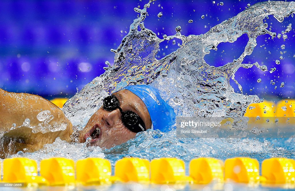 Mireia Belmonte Garcia of Spain competes in the womens's 800m freestyle final during day 9 of the 32nd LEN European Swimming Championships 2014 at Europa-Sportpark on August 21, 2014 in Berlin, Germany.