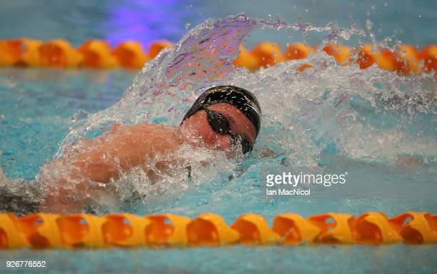 Mireia Belmonte of Spain competes in the final of the Women's 400m Freestyle duringThe Edinburgh International Swim meet incorporating the British...