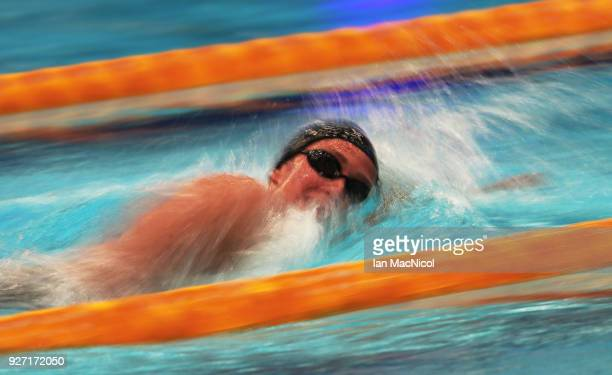 Mireia Belmonte of Spain competes in the Women's 1500m Freestyle Final during The Edinburgh International Swim meet incorporating the British...