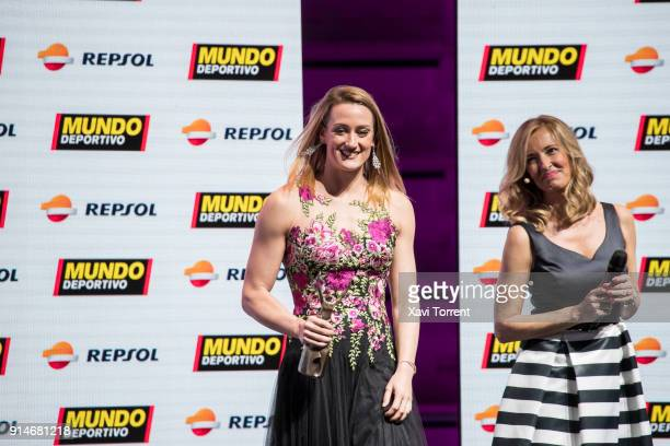 Mireia Belmonte receives the sports excellence award during the 70th Mundo Deportivo Gala on February 5 2018 in Barcelona Spain