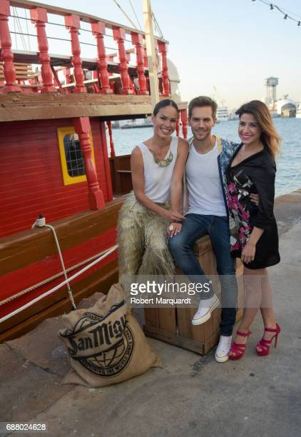 Mireia Canalda Marc Clotet and Ares Teixidor attend the 'San Miguel 60th Anniversary' party held at the Nautic Center on May 24 2017 in Barcelona...