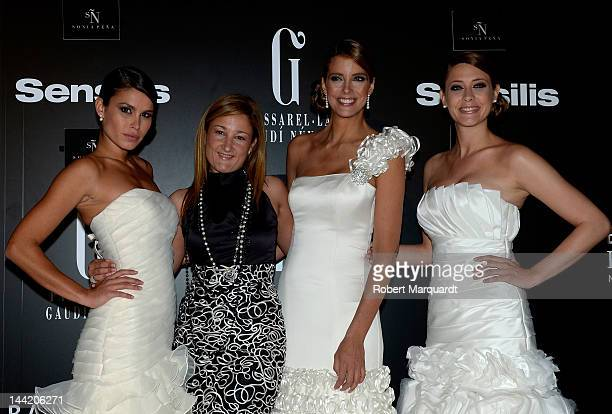 Mireia Canalda Sonia Pena Estefania Luyk and Elisabeth Reyes attend a photocall for the Sonia Pena fashion show during the Barcelona Bridal Week on...