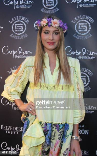 Mireia Lalaguna attends a photocall for the 'Flower Power' party held at the Carpe Diem nightclub on May 4 2017 in Barcelona Spain