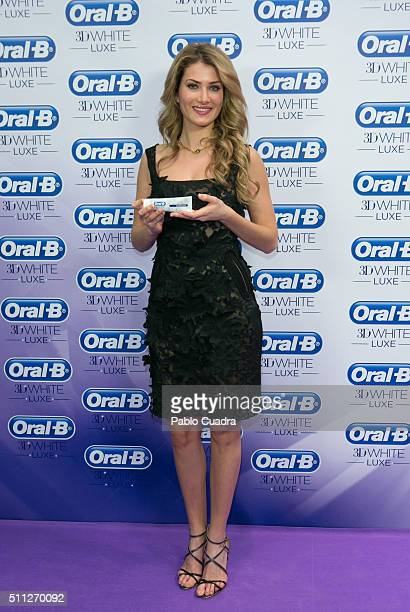 Mireia Lalaguna attends an OralB photocall during the MercedesBenz Madrid Fashion Week Autumn/Winter 2016/2017 at Ifema on February 19 2016 in Madrid...