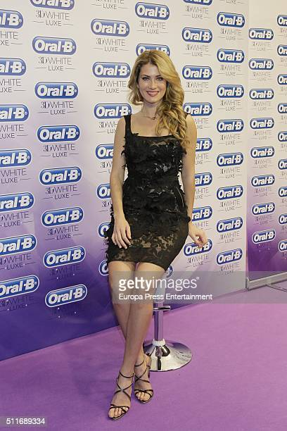Mireia Lalaguna attends OralB campaign during the MercedesBenz Madrid Fashion Week Autumn/Winter 2016/2017 at Ifema on February 19 2016 in Madrid...