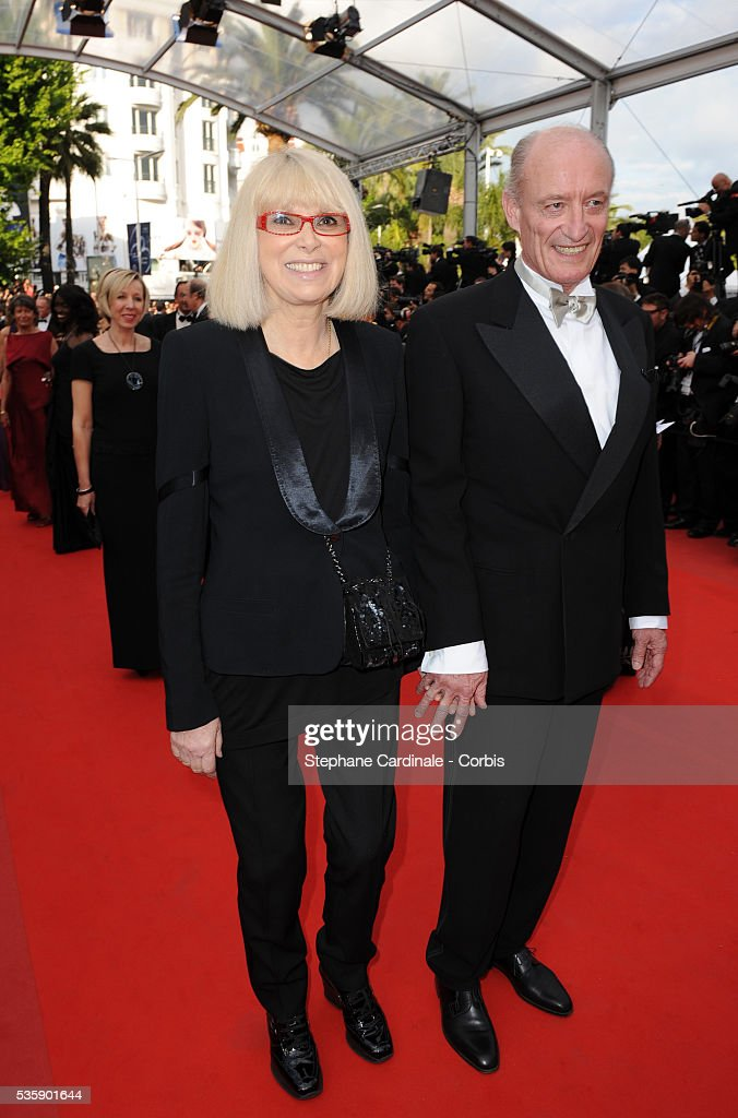 Mireille Darc and his husband at the premiere of ?Robin Hood? during the 63rd Cannes International Film Festival.