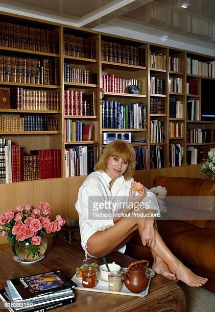 Mireille Darc at Home