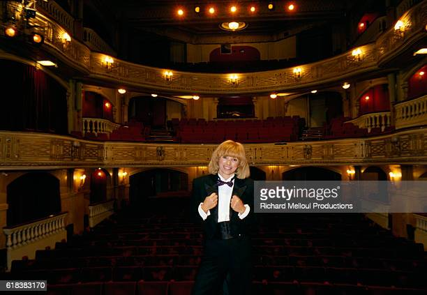 Mireille Darc at the Theatre Edouard VII
