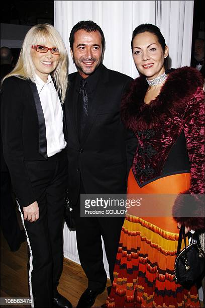 Mireille Darc Bernard Montiel and Princess Hermine of ClermontTonnerre in Paris France on February 05 2007