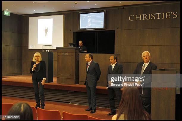 Mireille Darc Francois Curiel photographer Richard Melloul Professor Alain Deloche at Christie's Auction Of Richard Melloul Photographs In Benefit Of...