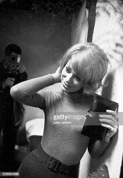 Mireille Darc , French actress and film director born in Toulon . Ca. 1963.