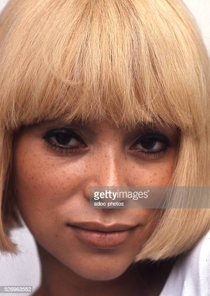 Mireille Darc , French actress and film director born in Toulon . Ca. 1970.