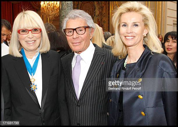 Mireille Darc Jean Daniel Lorieux and his companion Laura Restelli at Actress Mireille Darc Received As Commander In the National Order Of Merit...