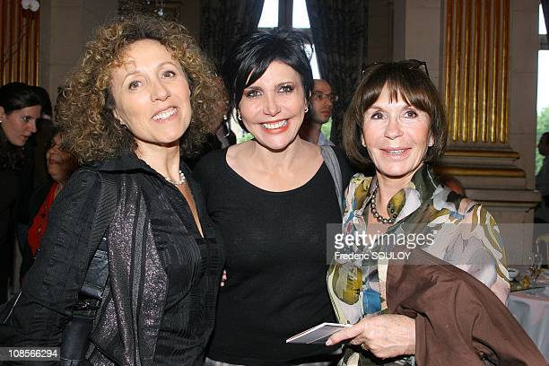 Mireille Dumas and Liane Foly in Paris France on May 10 2007