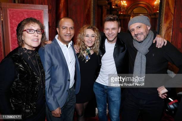 Mireille Dumas Pascal Legitimus Christelle Chollet JeanPhilippe Jeanfi Janssens and Remy Caccia attend the Michele Bernier One Woman Show Vive Demain...