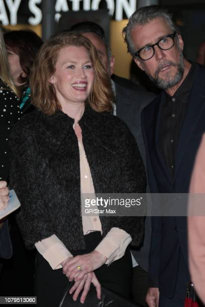 Mireille Enos and Alan Ruck are seen on January 8 2019 in Los Angeles CA