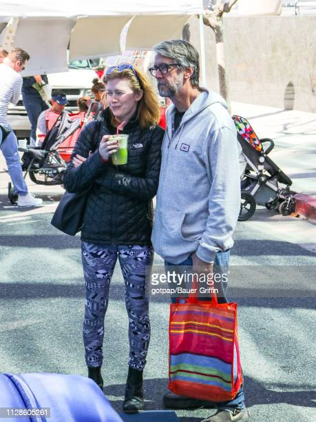 Mireille Enos and Alan Ruck are seen on March 03 2019 in Los Angeles California