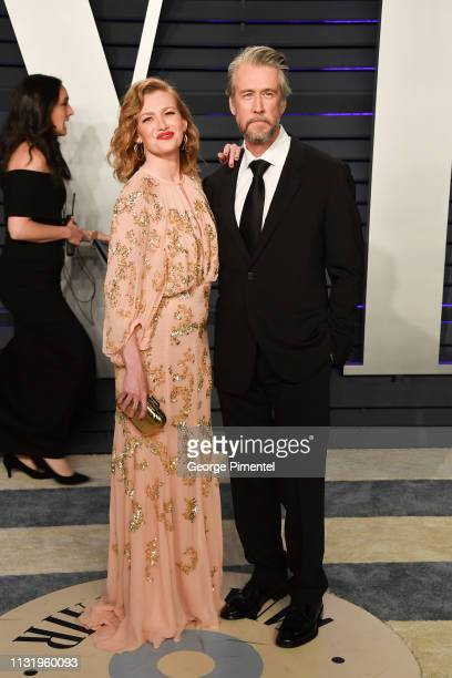 Mireille Enos and Alan Ruck attend the 2019 Vanity Fair Oscar Party hosted by Radhika Jones at Wallis Annenberg Center for the Performing Arts on...