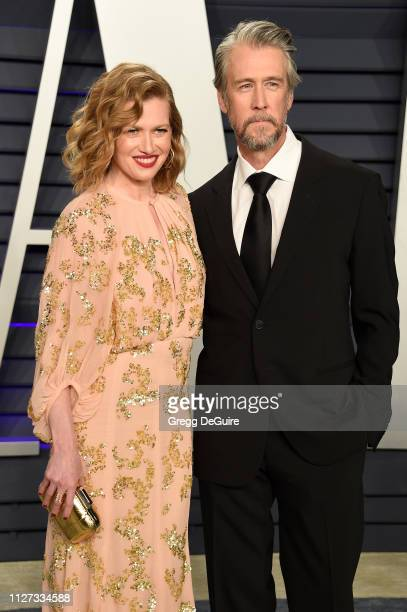 Mireille Enos and Alan Ruck attends the 2019 Vanity Fair Oscar Party hosted by Radhika Jones at Wallis Annenberg Center for the Performing Arts on...