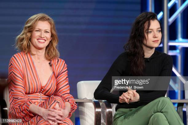Mireille Enos and Esme CreedMiles of the television show 'Hanna' speak during the Amazon Prime Video Session of the 2019 Winter Television Critics...