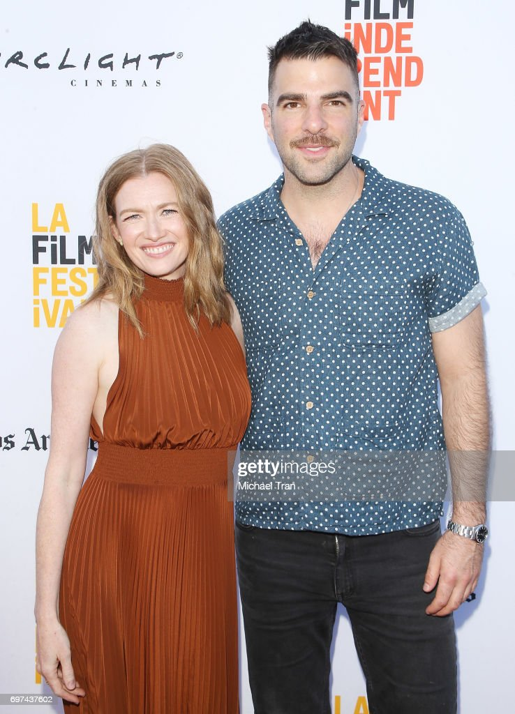 Mireille Enos and Zachary Quinto attend the 2017 Los Angeles Film Festival - premiere of 'Never Here' held at Arclight Cinemas Culver City on June 18, 2017 in Culver City, California.