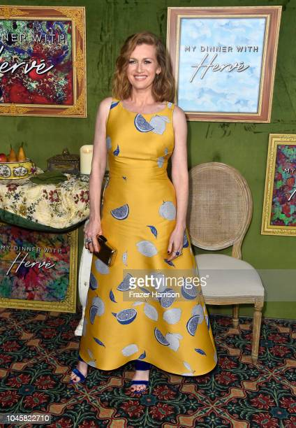 Mireille Enos attends the HBO Films' My Dinner With Herve Premiere at Paramount Studios on October 4 2018 in Hollywood California