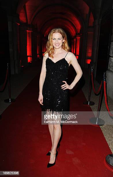 Mireille Enos attends the Muse performance at the 'World War Z' World Premiere at Horse Guards Parade on June 2 2013 in London England