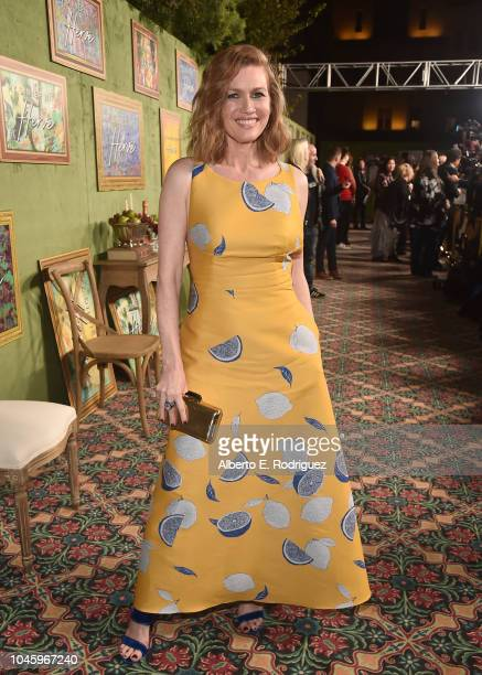 Mireille Enos attends the premiere of HBO Films' My Dinner With Herve at Paramount Studios on October 4 2018 in Hollywood California