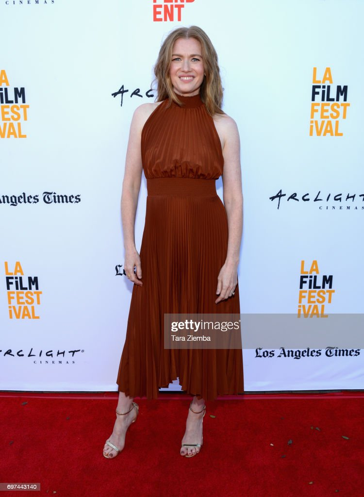 Mireille Enos attends the premieres of 'Never Here' and 'Laps' during 2017 Los Angeles Film Festival at Arclight Cinemas Culver City on June 18, 2017 in Culver City, California.