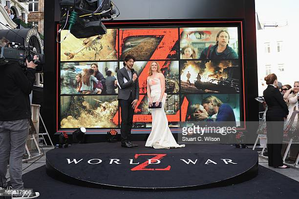 Mireille Enos attends the World Premiere of 'World War Z' at The Empire Cinema on June 2 2013 in London England