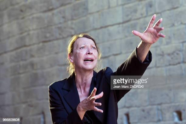 Mireille Herbstmeyer dans 'Les suppliantes Eschyle pièces de guerre' une adaptation pour le théâtre mise en scène par Olivier Py et présentée en tant...
