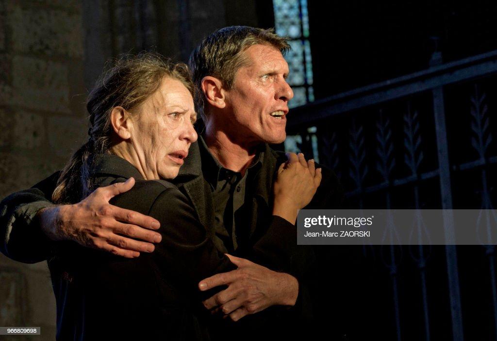 Les suppliantes, Eschyle, pièces de guerre', une adaptation pour le théâtre mise en scène par Olivier Py : News Photo